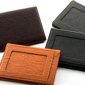 Italy leather 定期入れ(二つ折り) NI-002