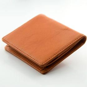 Italy leather 定期入れ(二つ折り) NI-006